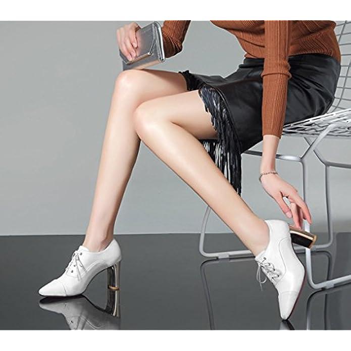 Col E Confortevole Alto Europa Hjhy® Scarpe Primavera America Tacco Lglfrxz Da Moda Donna Singole