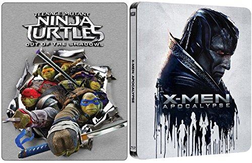X-Men Apocalypse Exclusive Steelbook + Teenage Mutant Ninja Turtles: Out Of The Shadows Exclusive Steelbook Set