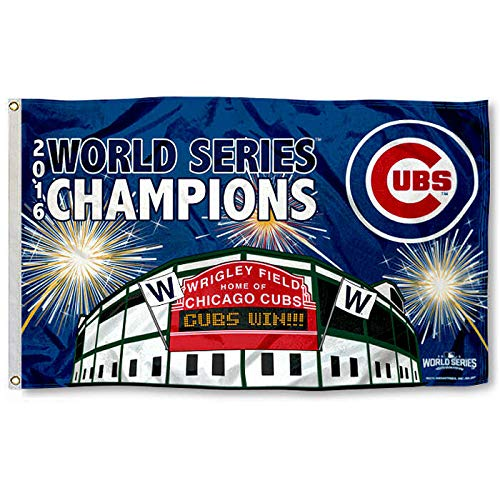 Chicago Cubs World Series Champs Banner Flag