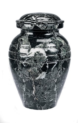 Star Legacy Classic Ebony Grain Large Marble Vase Adult Funeral Cremation Urn for Human Ashes ()
