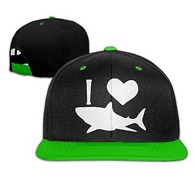 LCUCE Men Women I Love Shark 1 Hip Hop Baseball Caps Snapback Hats from LCUCE