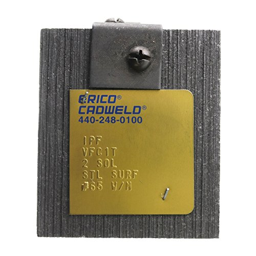 Cadweld Erico VFC1T #2 Solid Cable to 24-Inch Steel Pipe or Flat Surface  Mold
