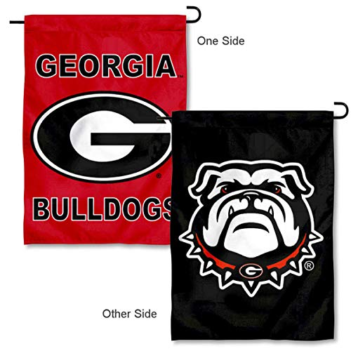 (College Flags and Banners Co. University of Georgia Double Logo Garden Flag)