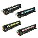 TonerBoss Remanufactured Toner Cartridge Replacement for HP 305A (Black,Cyan,Magenta,Yellow, 4-Pack)