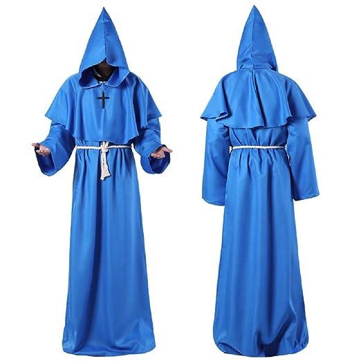 3WHLD Disfraz de Halloween, Fraile Medieval Hooded,Monk Robe ...