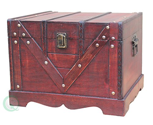 Vintiquewise(TM Old Style Treasure Chest/Box, Set of 2 by Vintiquewise (Image #4)