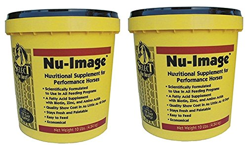 (2 Pack) Nu-Image Hoof and Coat Support For Horses by RICHDEL