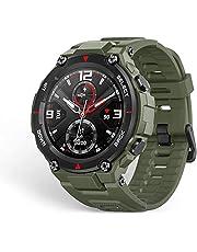 ساعة سمارت تي ريكس مقاومة للماء ومعتمدة وفقا للمعايير العسكرية، هيكل صلب، نظام تحديد المواقع الجغرافية GPS، بطارية تدوم 20 يوم، شاشة AMOLED1.3 بوصة، 14 وضع رياضي، اخضر