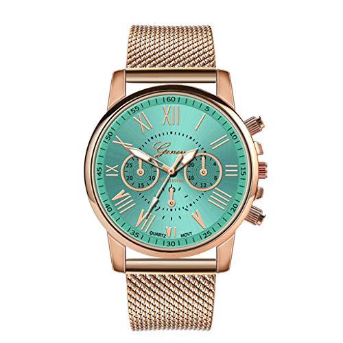 Honestyivan Women's Quartz Stainless Steel Dial Analog Watches Sport Wrist Watch Buckle Fashion Luxury Watch Gift for Mom