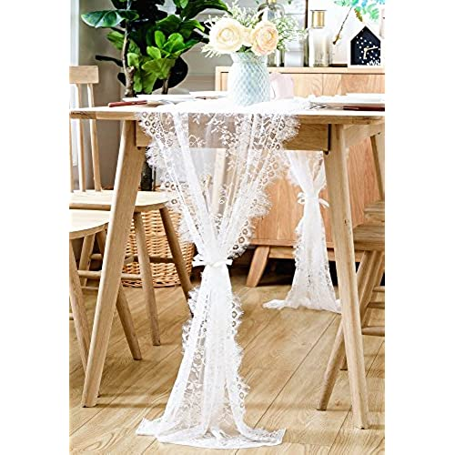 Vintage wedding reception decor amazon boxan 30x120 inch white classy lace table runneroverlay with rose vintage embroidered rustic boho wedding reception table decor fall thanksgiving junglespirit Gallery