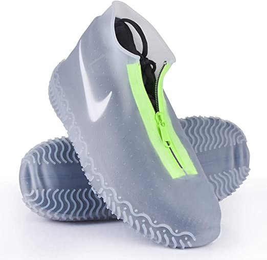 Shoe Covers Reusable Silicone Waterproof Home Shoe Protectors with Zipper