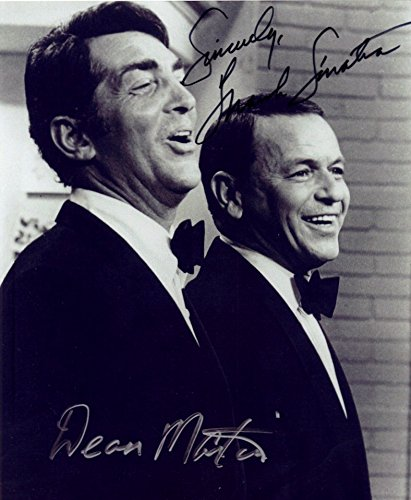 Kirkland Signature Frank Sinatra & Dean Martin Autograph Reprint 8 X 10 Photo Display on Glossy Photo Paper