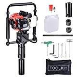 Yescom 2 Stroke 32.7cc Gas Powered T Post Driver Gasoline Piling Driver Portable Lightweight