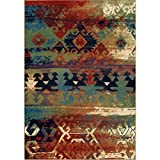 "Orian Rugs Mardi Gras Elk River Area Rug, 7'10"" x 10'10"", Multicolor Review"