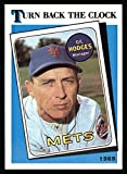 1989 Topps # 664 Turn Back The Clock Gil Hodges New York Mets (Baseball Card) Dean's Cards 8 - NM/MT Mets