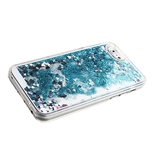 Schutzhülle für iPhone 6 Plus, Nsstar® Hard Plastic Handyhülle Transparent Clear Cystal Case Glitter Flowing Bling Sterns und Sparkles Shinny Attraktiv Anti Scratch Hart Hülle Etui Schale für iPhone 6