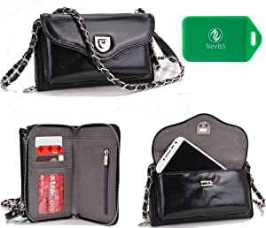 Limited edition Genuine Leather Carri Series cross body wallet purse with phone holder for Gigabyte Gsmart Simba SX1