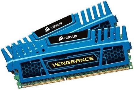 كروسير CMZ8GX3M2A1600C9B فينجيانس أزرق 8 جيجا (2X4 جيجابايت) PC3-12800 1600 ميجا هرتز DDR3 240 دبوس SDRAM ثنائي القنوات 1.5 فولت