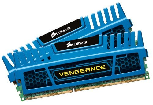CORSAIR Vengeance 8GB (2 x 4GB) 240-Pin DDR3 SDRAM DDR3 1600 (PC3 12800) Desktop Memory Model CMZ8GX3M2A1600C9B (Sdram Dual Channel Memory)
