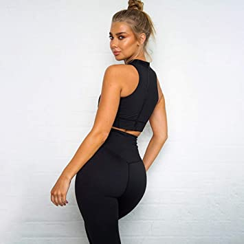 DSWVBGX 2019 Gym Fitness Clothing Solid Women Yoga Workout ...