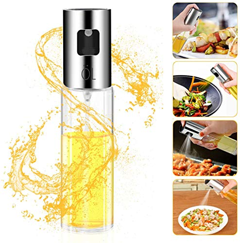 Besmon Olive Oil Sprayer Food-grade Glass Bottle dispenser for Cooking, BBQ, Salad, Kitchen Baking, Roasting, Frying (Watchers Sprayer Weight Oil)