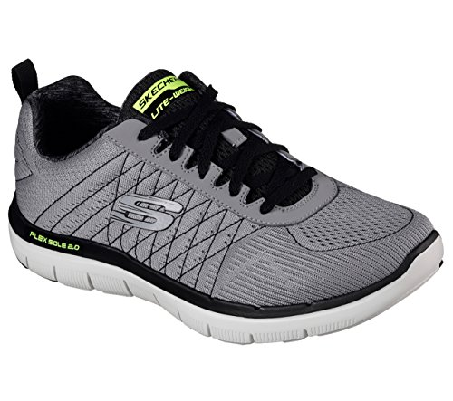 1a2b8c9685 Galleon - Skechers Flex Advantage 2.0 The Happs Mens Sneakers Light  Gray Black 8.5 W