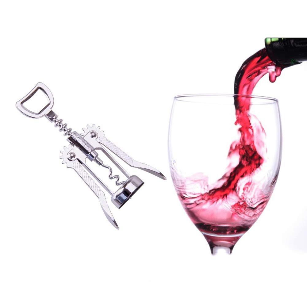 Multifunzione Cavatappi Professionale HOPELJ Premium Lega di Zinco Apribottiglie per Vino Rosso Cavatappi ad Ala Screwpull Cork Remover Accessori