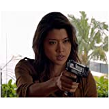 Hawaii Five-0 Grace Park as Kono Kalakaua Close Up Head Shot Mouth Ajar Hand in Front 8 x 10 Inch Photo