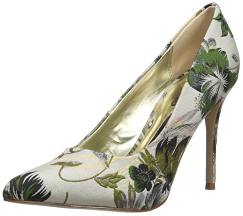 Carlos by Carlos Santana Women's Posy 2 Pump, White Floral, 8.5 Medium US