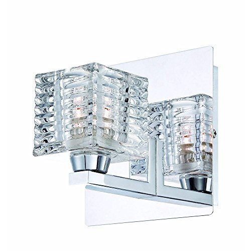 Hampton Bay Olivet 1-Light Chrome Wall (Bay 1 Light)