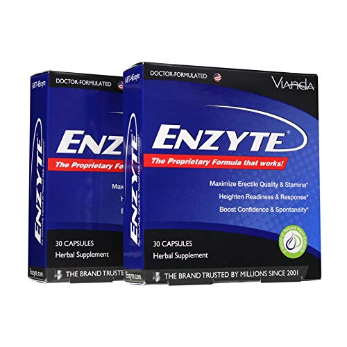 Enzyte®| Doctor-Formulated for a Boost in Blood Flow for Natural Male Enhancement with Asian Ginseng, Ginkgo Biloba, Grape Seed Extract - 60 Capsules
