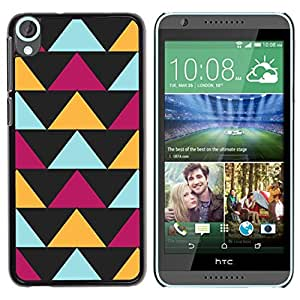 Estuche Cubierta Shell Smartphone estuche protector duro para el teléfono móvil Caso HTC Desire 820 / CECELL Phone case / / Black Purple Yellow Pattern /