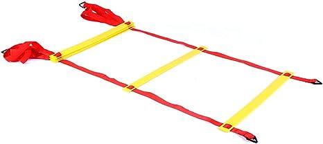 Xin Speed Agility Ladder 3M 6 Escalera de Entrenamiento de peldaños para fútbol Speed Basketball Fútbol Fitness Entrenamiento de pies con Bolsa (Color : B): Amazon.es: Deportes y aire libre