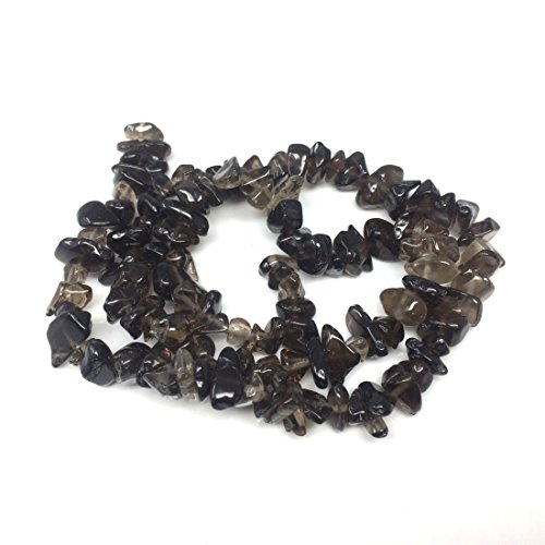 Top Quality Natural Smoky Quartz Gemstones Smooth Chips Beads Free-Form Loose Beads ~8x5mm Beads (~34 inch) GZ1-18