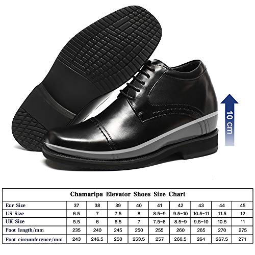 Fino Uomo Commerciali Eleganti Scarpe Derby Stringate A Nero 10 Interno Rialzo H71v19k021d Cm Affari Con Chamaripa Wa0gvRfg