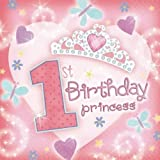 Amscan International First Birthday Princess Party Napkins, Pack of 36