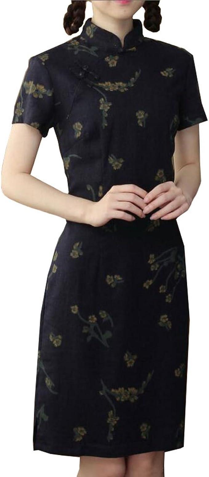 Elegante chinesische Kleid Qipao Kleider Cheongsam Frauen Kleidung