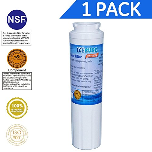 Icepure RWF0900A Refrigerator Water Filter Compatible with Maytag UKF8001 ,WHIRLPOOL 4396395 ,EveryDrop EDR4RXD1, Filter 4 1PACK