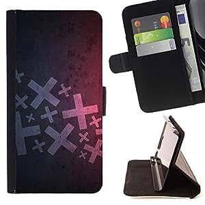 For Apple (4.7 inches!!!) iPhone 6 / 6S Case , Resumen X- la tarjeta de Crédito Slots PU Funda de cuero Monedero caso cubierta de piel
