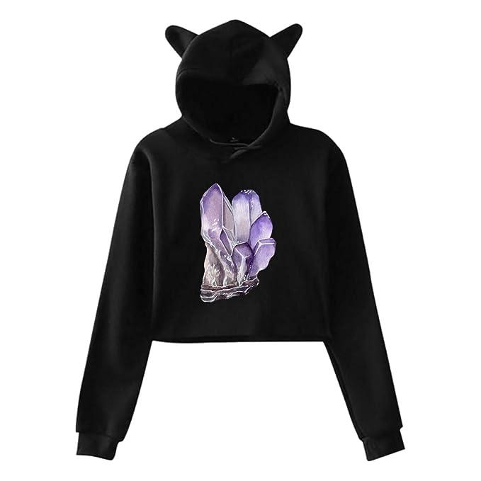 f4b0fac335d4 Amazon.com  Shadidi Girls Womens Purple Amethyst Cute Cat Ear 3D ...
