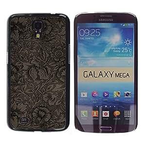 Stuss Case / Funda Carcasa protectora - Wallpaper Pattern Floral Coffee Flowers - Samsung Galaxy Mega 6.3 I9200 SGH-i527