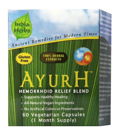 AyurH pour hémorroïdes de guérison et de secours, 60 capsules