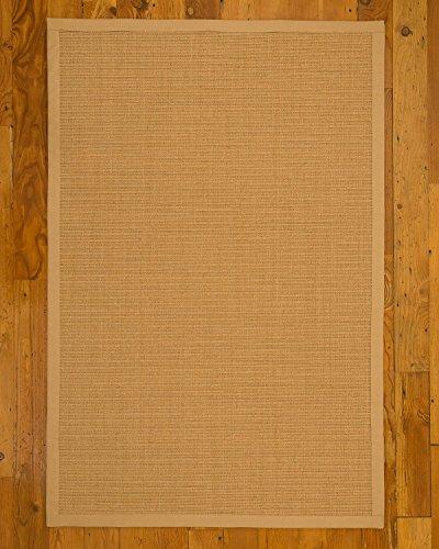 NaturalAreaRugs Natural Fiber Shiasta Sisal Rug, Handmade, Wide Canvas Border, Jute Backing, Durable, Anti Static, Stain Resistant, 5' x - Wide Border Canvas