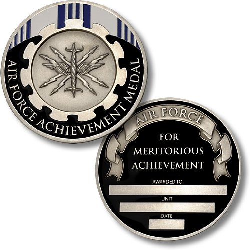 Air Force Achievement Medal Coin - Engravable Challenge Coin (Coin Challenge Medal)