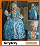 Simplicity 3637 Sew Pattern MISSES 18th CENTURY COSTUME Size 8-14