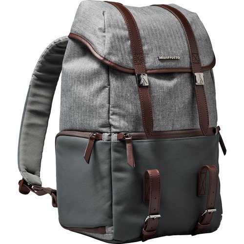 Manfrotto MB LF-WN-BP camera & laptop backpack for DSLR Lifestyle Windsor, grey
