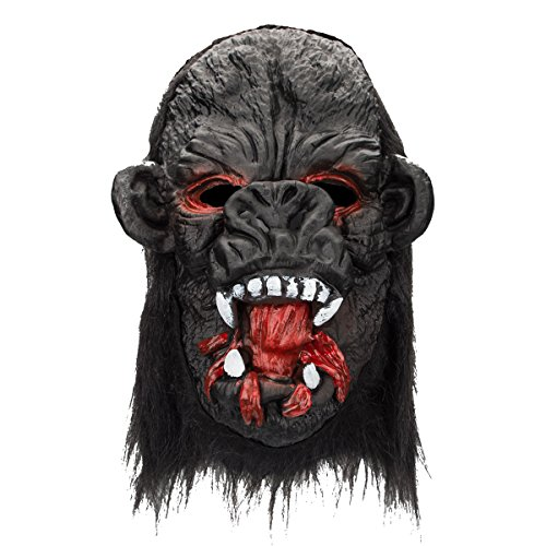Halloween Party Cosplay Mask Ape Mask Gorilla Mask Monkey with Teeth and Hair