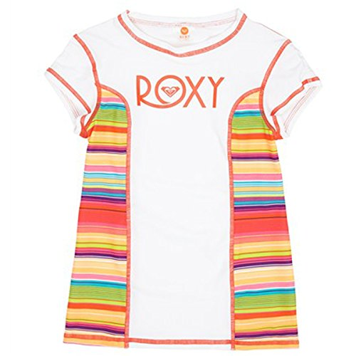 Roxy Big Girls'  Sundown Short Sleeve Rashguard, Sea Salt, 8/Small