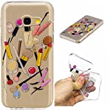 Qiaogle Phone Case - Soft TPU Silicone Case Cover Back Skin for Samsung Galaxy A5 (2017) / A5200 (5.2 inch) - HC10 / Lip gloss + eyebrow pencil