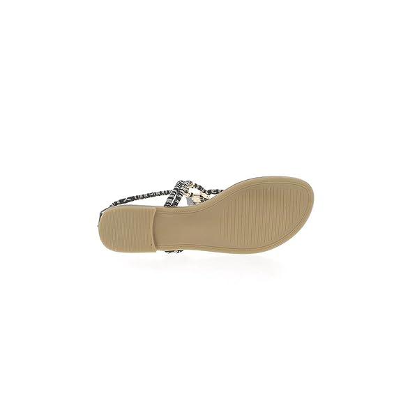 Pies descalza Mujer Negra con Cordones y Entre Dedos EN talonette - 40 B2FFh